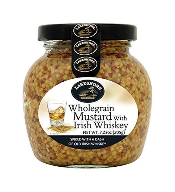 Lakeshore Wholegrain Mustard with Whiskey