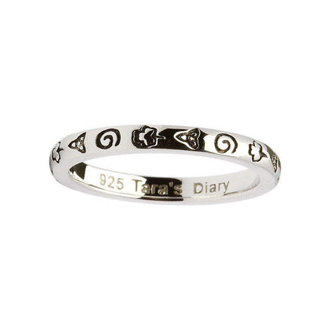 Celtic Symbols Silver Stacking Ring