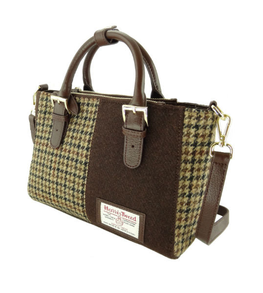 Olivia Harris Tweed & Leather Panel Bag