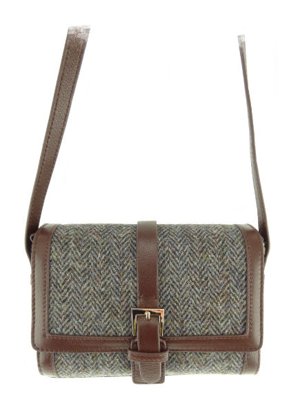 Harris Tweed & Leather Mini Bag - Jemima