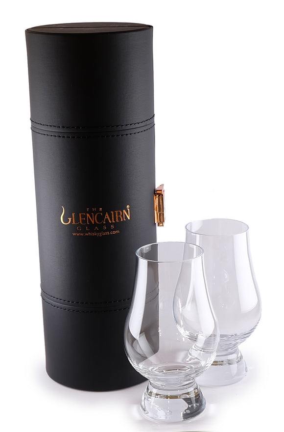 Glencairn Travel Case and Two Glencairn Glasses