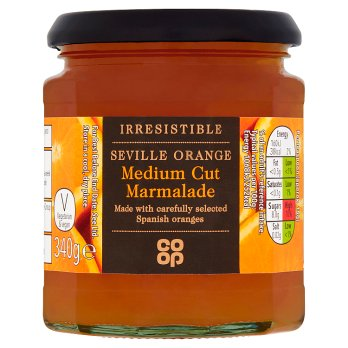 Co Op Irresistible Seville Orange Medium Cut Marmalade 340g