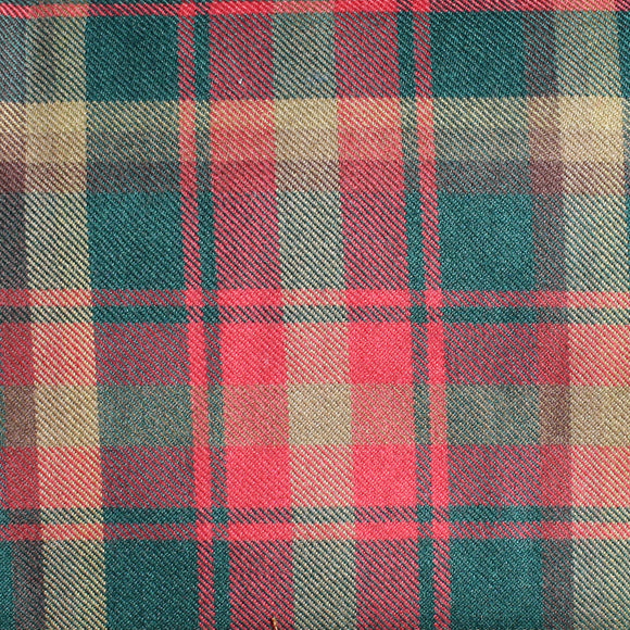 Maple Leaf Tartan 10oz Wool Fabric
