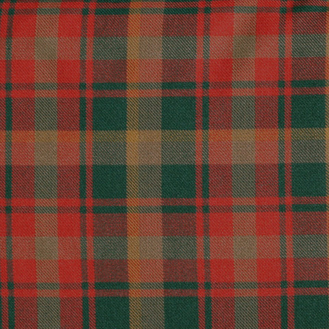 Maple Leaf Tartan Poly Viscose Cloth