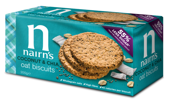 Nairn's Wheat Free Oat Cookies Coconut & Chia