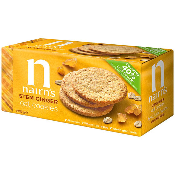 Nairn's Wheat Free Oat Cookies Stem Ginger