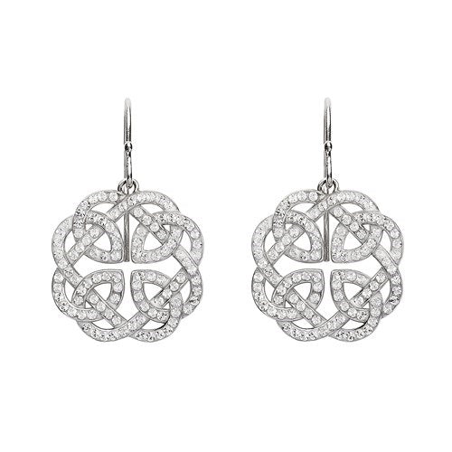 Swarovski Crystal Celtic Earrings