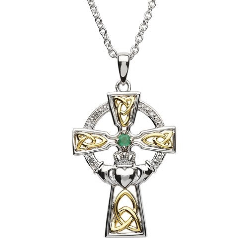 SS GP Emerald/Diamond Celtic cross