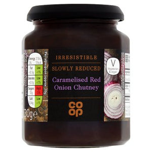 Co Op Irresistible Caramelised Red Onion Chutney 330g