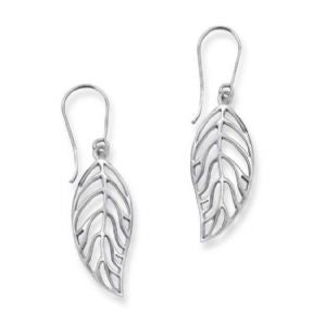 Outlander Inspired Autumn Leaf Silver Earrings
