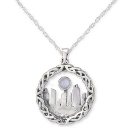 Outlander Inspired Standing Stones Moonstone Medium Pendant