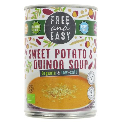 Free & Easy Organic Sweet Potato and Quinoa Soup