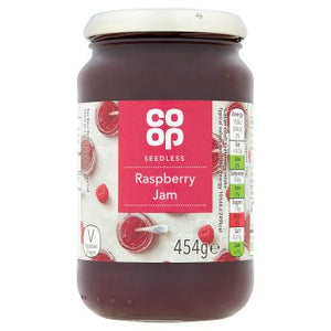 Co Op Seedless Raspberry Jam 454g