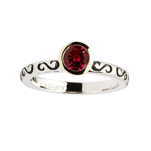 Ruby Silver Stacking Ring