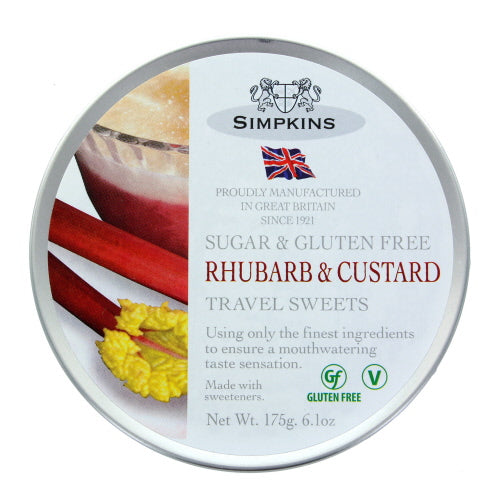 Simpkins Sugar & Gluten Free Rhubarb & Custard Travel Sweets
