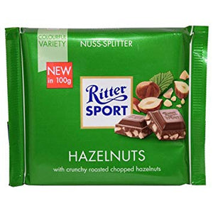 Ritter Sport Milk Chocolate Chopped Hazelnuts