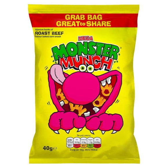 Walker's Monster Munch Mega Roast Beef