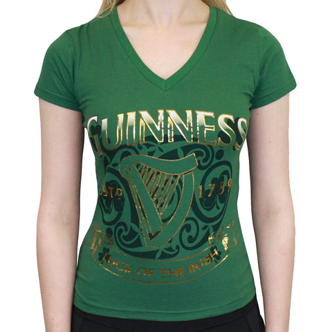 Guinness Golden Harp V-Neck T-Shirt