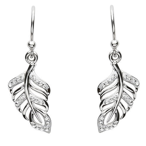 Swarovski Leaf Earrings