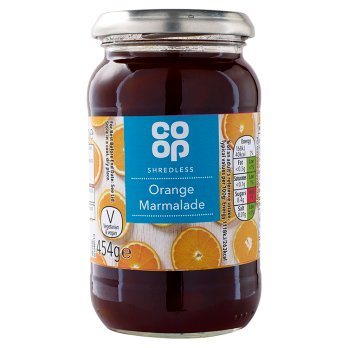 Co Op Shredless Orange Marmalade 454g