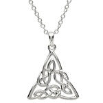 PlatinumWare Celtic Knot Triangular Pendant