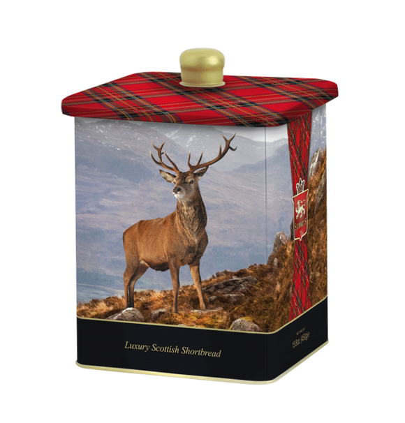 Stewart's Shortbread 450g Barrel Tin - Highland Stag