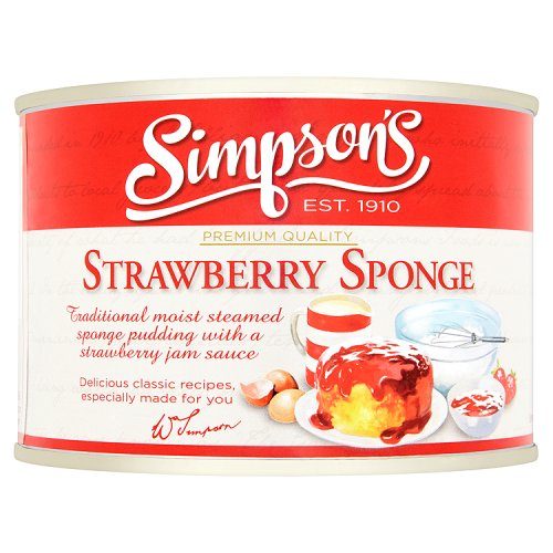 Simpsons Strawberry Sponge Pudding