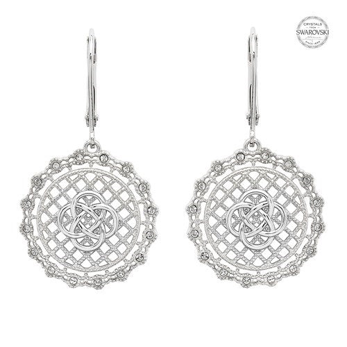 Swarovski Irish Lace Lever Back Earrings