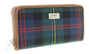 Tartan Long Zip Wallet
