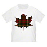 Tartan Maple Leaf Toddler T-Shirt
