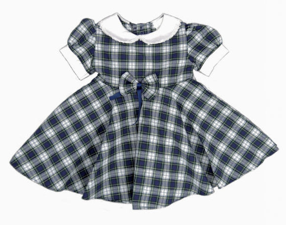 Dress Gordon Tartan Dress with Full Circle Skirt