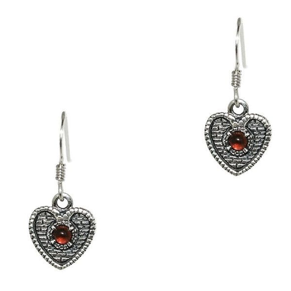 Heart of Midlothian Silver Earrings