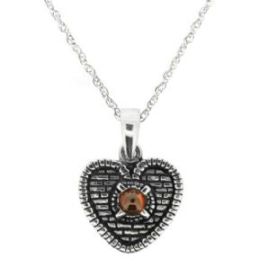 The Heart of the Midlothian Silver Pendant and Garnet