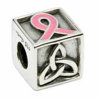Hope Pink Ribbon Bead