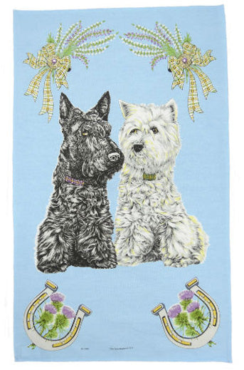 Westies Tea Towel