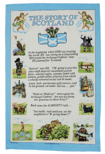 Story of Scotland Tea Towel