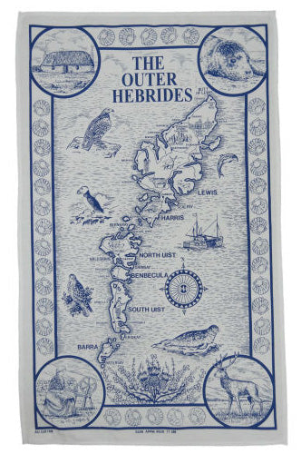 Outer Hebrides Tea Towel