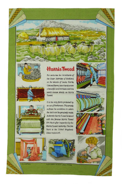 Story of Harris Tweed Tea Towel