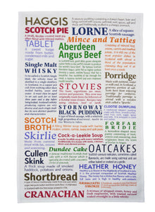 Scottish Delicacies Tea Towel