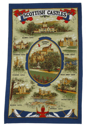 Scottish Castles Tea Towel