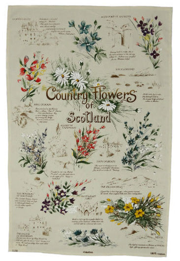 Tea Towel - Country Flowers of Scotland
