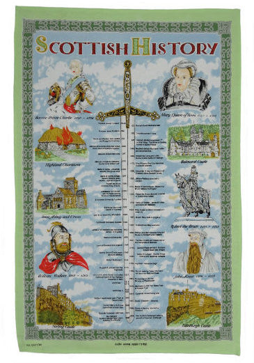 Scottish History Tea Towel