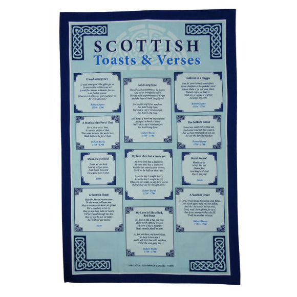 Tea Towel - Scottish Toasts & Verses