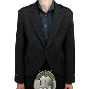 Charcoal Tweed Argyle Kilt Jacket