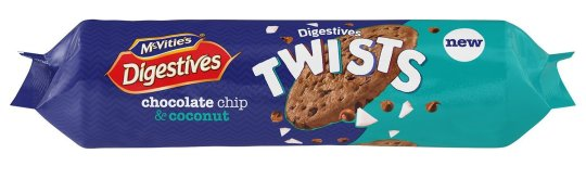 McVitie's Digestive Twists Chocolate Chip & Coconut
