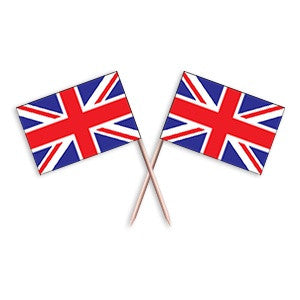 UK Flag Picks (100pcs)