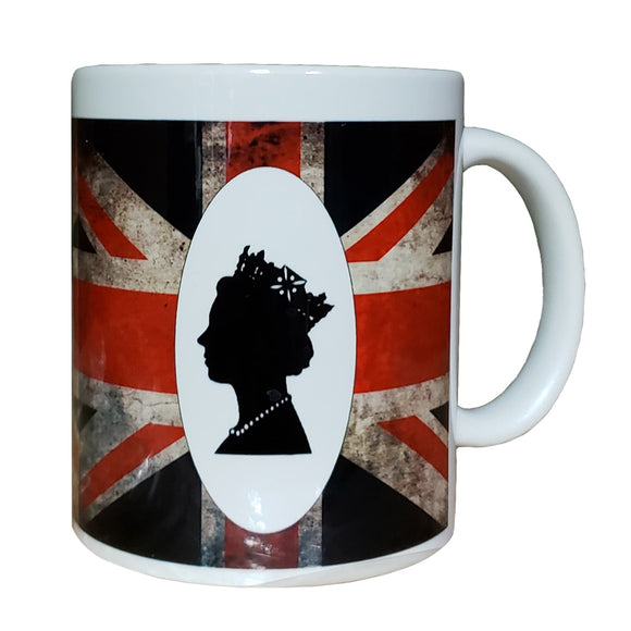 Distressed Union Jack Flag Queen Mug