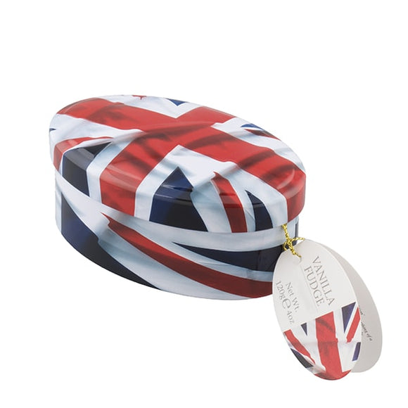 Union Jack Tin Vanilla Fudge 120g