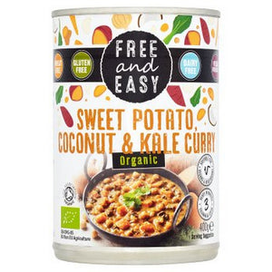 Free & Easy Organic Sweet Potato, Coconut & Kale Curry