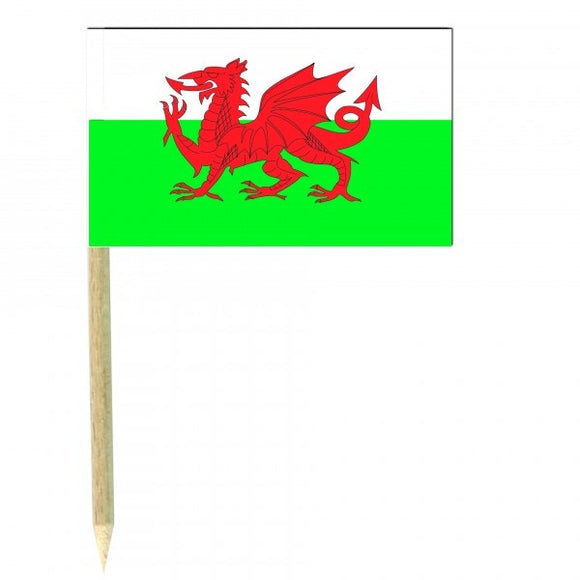 Wales Flag Picks (100pcs)
